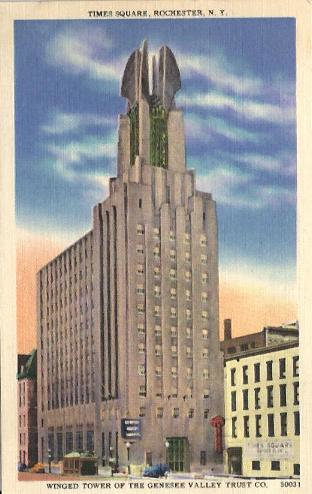 Vintage photo of Times Square Building